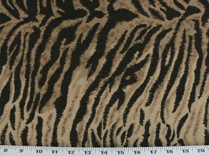 Drapery Upholstery Fabric Serengeti Tiger Animal Print Chenille Tan Beige Black Drapery Fabric Upholstery Fabric Fabric Decor