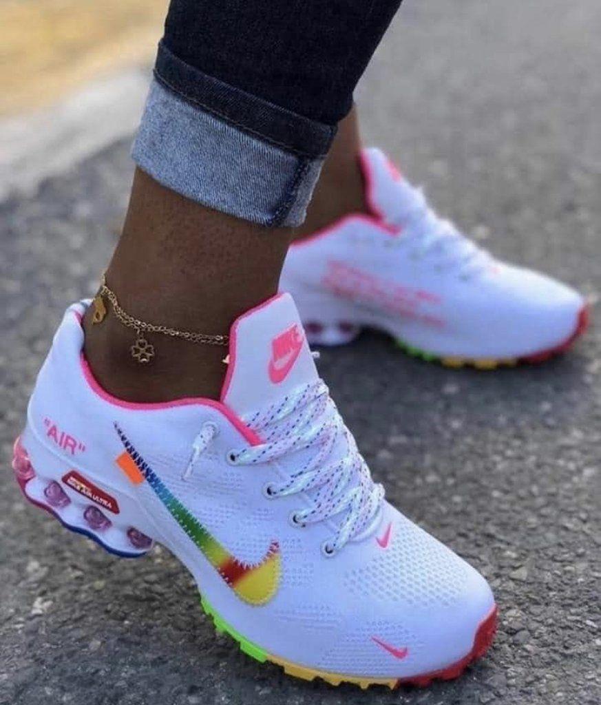 Rainbow Nike air in 2020 | Nike shoes women, Sneakers