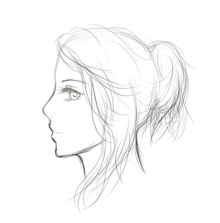 How To Draw Anime Side View Anime Side View Full Body In 2020 Face Drawing Side Face Drawing Pencil Drawings Of Girls