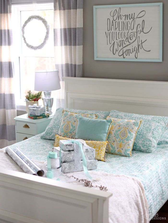 Christmas Home Tour- Part 2- Bedrooms Christmas bedroom, Bedrooms