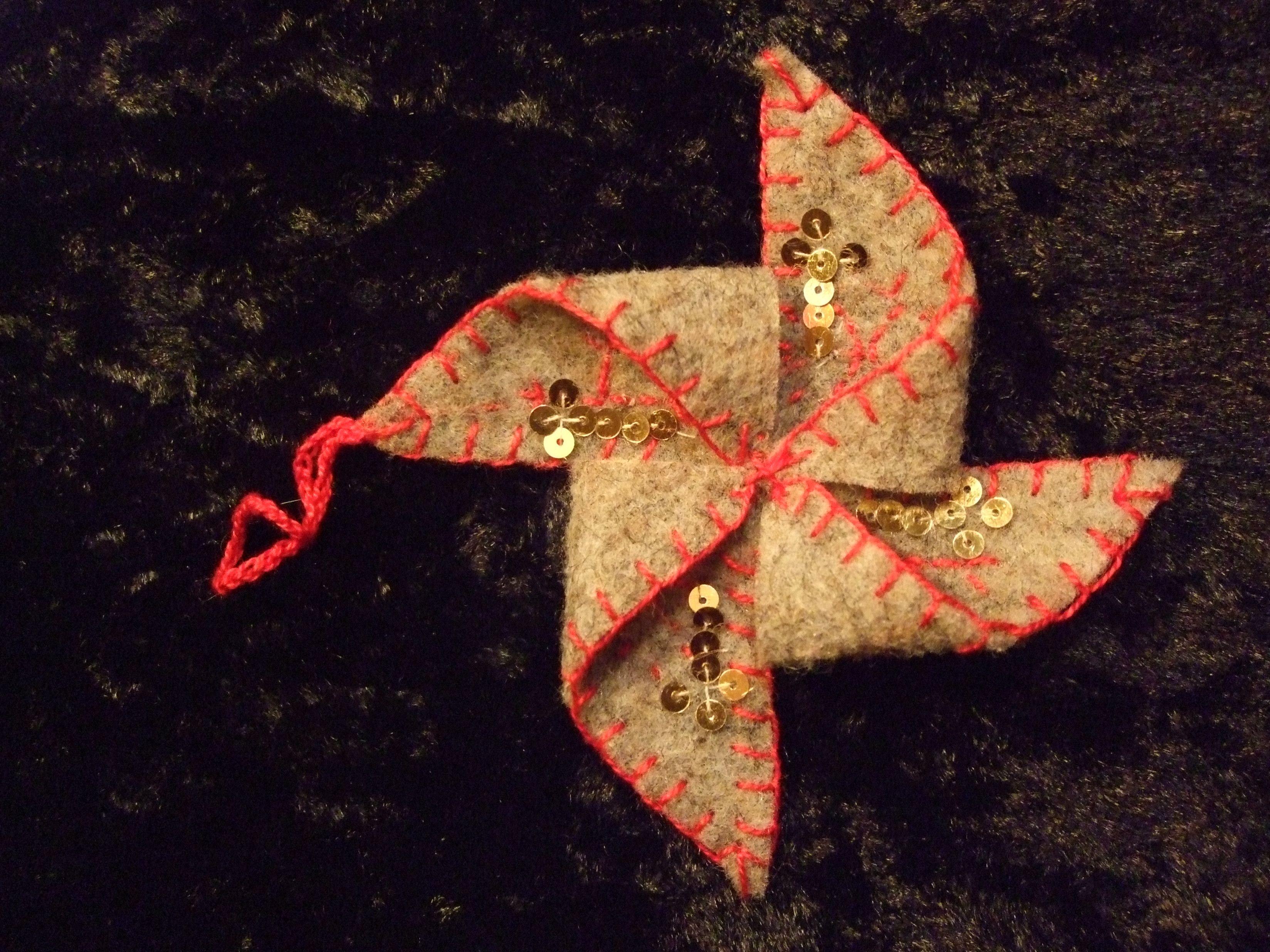 embroidered folk art ornament