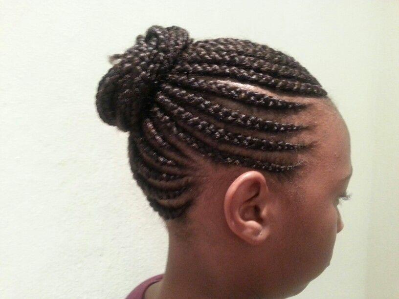 Straight Up Cornrow Hairstyle #braids #salon #hairstyle