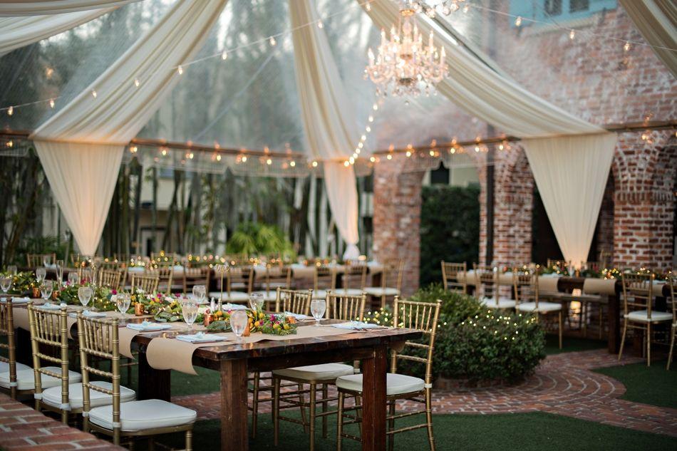Sweet And Intimate Casa Feliz Wedding In Winter Park Orlando Wedding Photographer Kristen Weaver Photography Outdoor Winter Wedding Park Wedding Reception Florida Wedding Venues