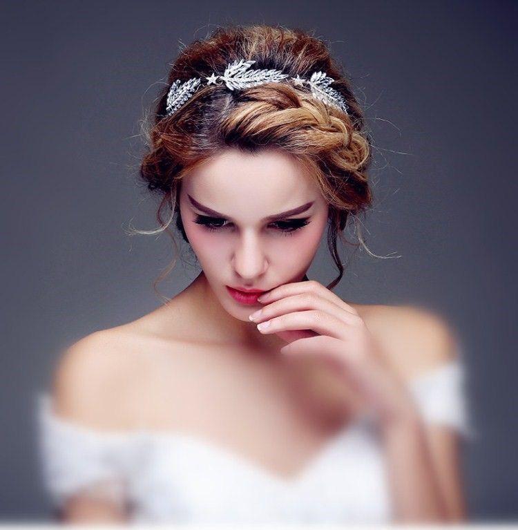 Headband de mariage ath na aux allures de d esse avec ses for Feuille de piano robe de mariage