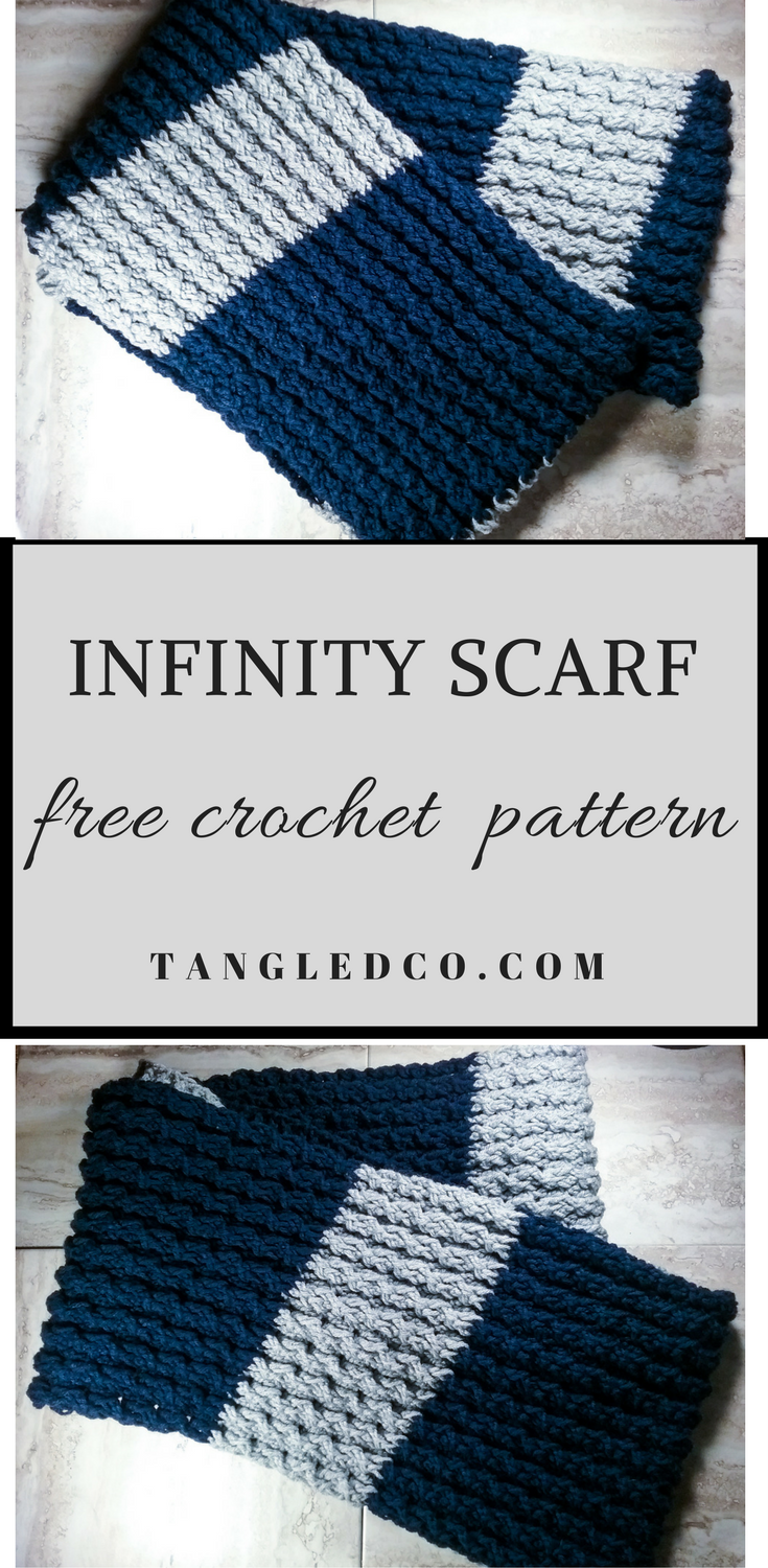 Unisex Cable Crochet Infinity Scarf | Chal, Tejido y Ganchillo