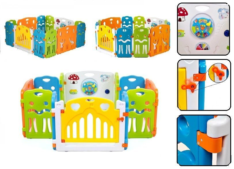 Cartoon Children Kids Plastic Play Fence Baby Safety Fence Pool Crawl