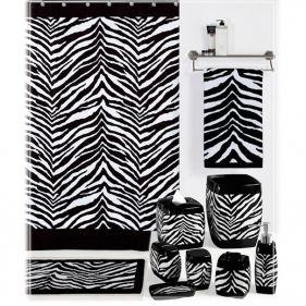 Black And White Zebra Print Shower Curtain Zebra Print Bathroom