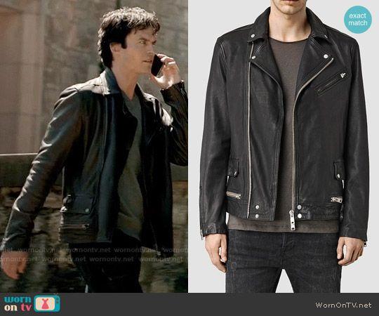 Moda On Damon's Diaries Leather Vampire The Masculina Black Jacket Fq046