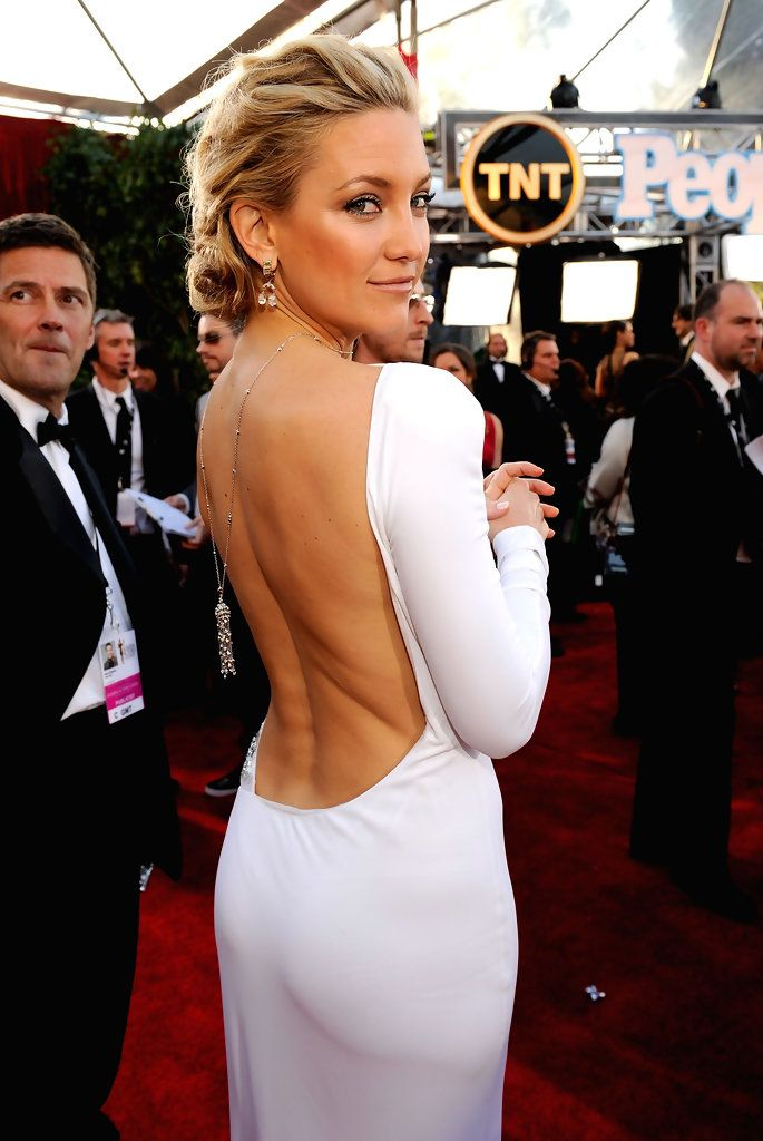 Kate Hudson screen actors guild awards 2012; Emilio Pucci gown, Cartier tassel necklace