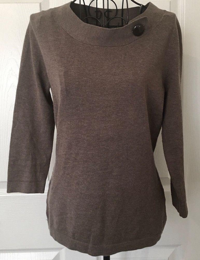 86918384e3a Banana republic Cashmere Silk Blend Sweater Top Marilyn Collar Brown Size  XS  BananaRepublic  SweaterTop