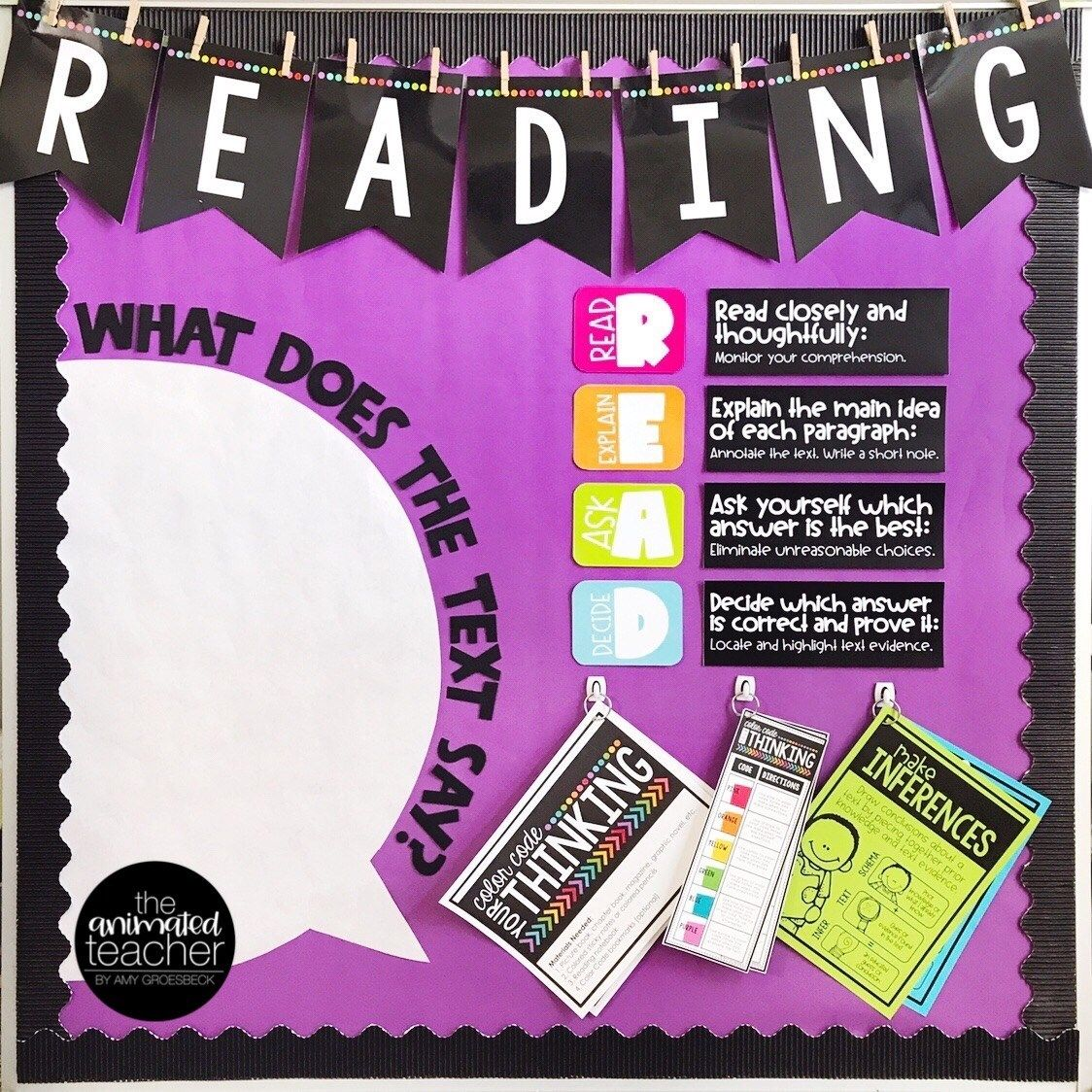 The Interactive Speech Bubble Reading instruction