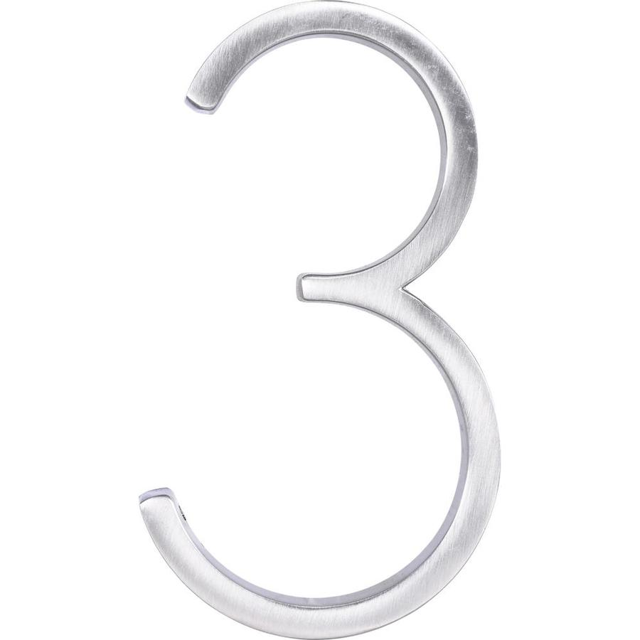 Hillman 5 In Brushed Nickel Floating House Number Lowes Com Floating House House Numbers Brushed Nickel