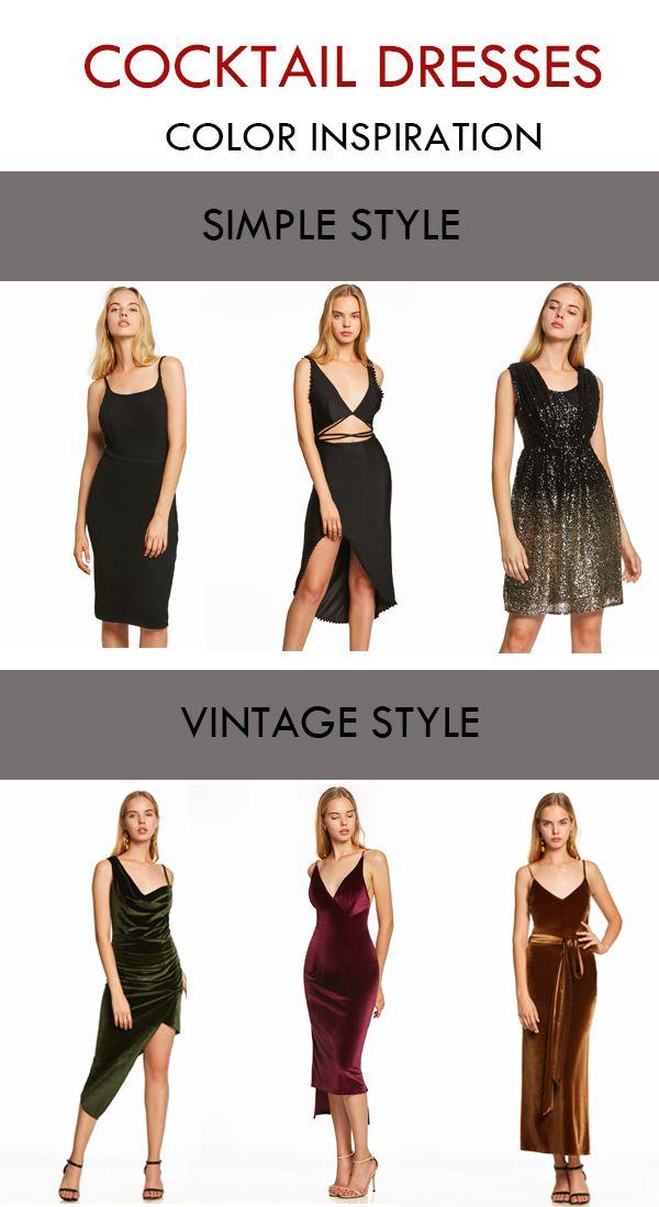Vintage Black Cocktail Dresses for Christmas
