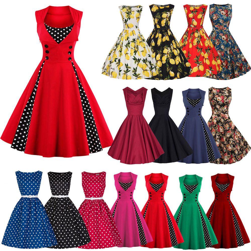 Damen Rockabilly 14er Swing Petticoat Vintage Hepburn Partykleider