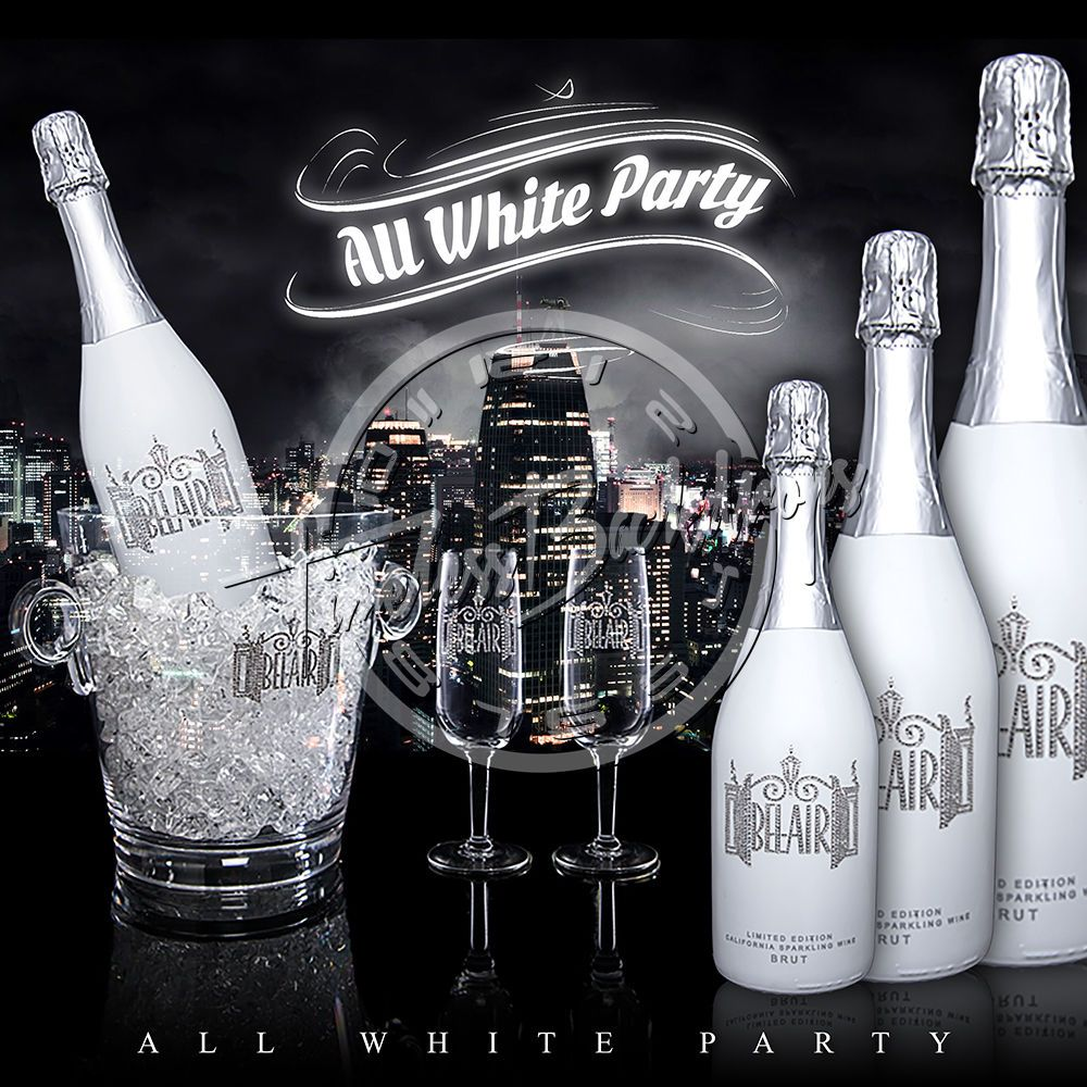 10ftx10ft digital printed backgrounds all white party 008