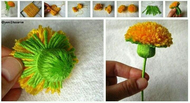 flower from yarns