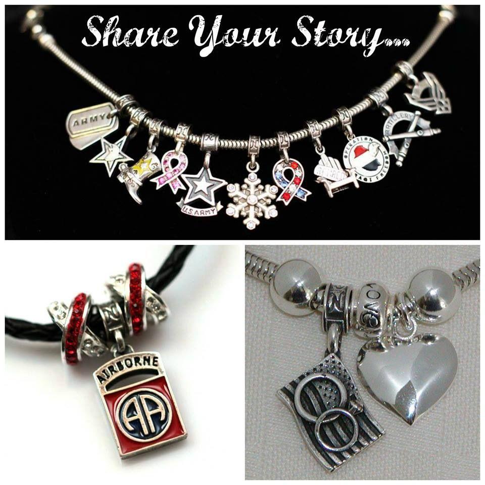 10b1e4422 Deployment, army life, army wife, military, charms bracelets, http:/