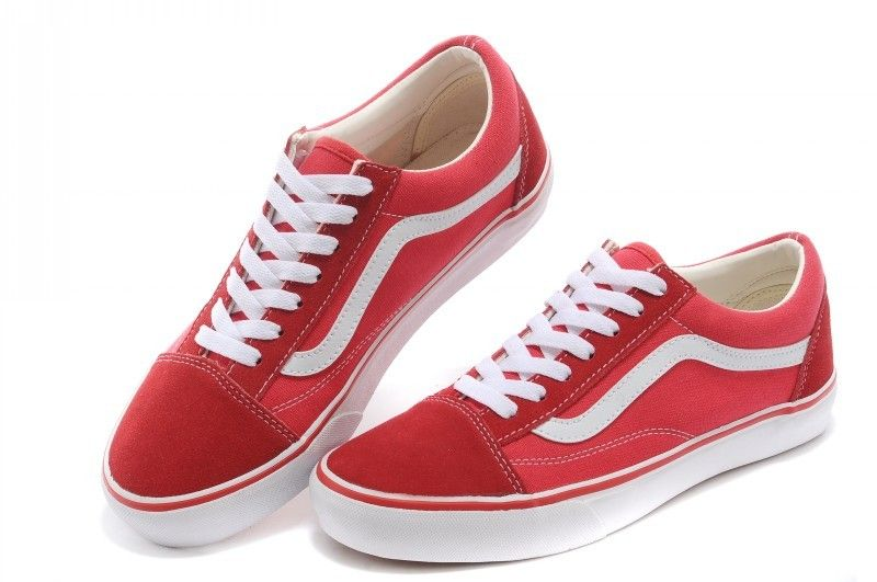 Vans Shoes Red White Original Old SKool Unisex Low  1762b872e