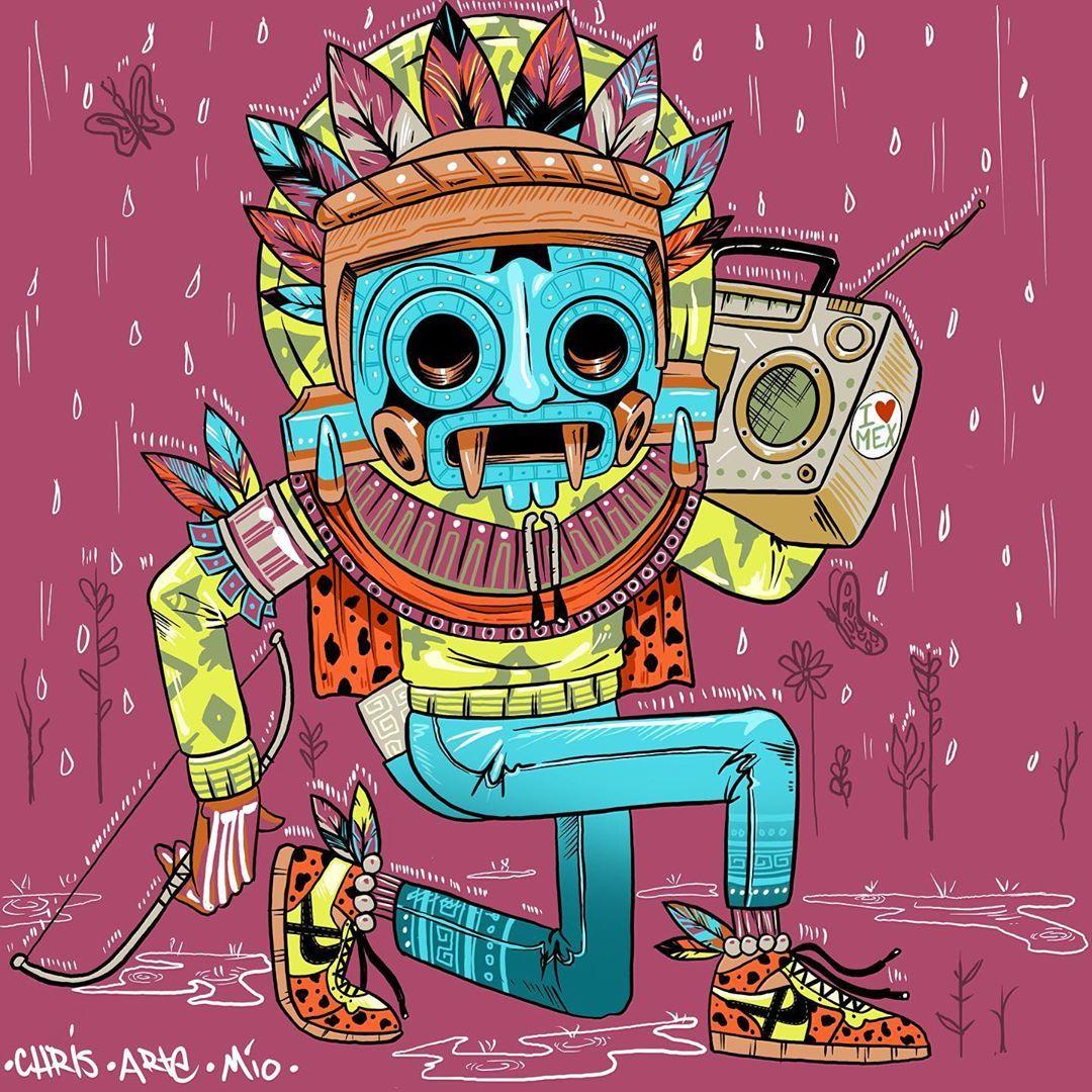 #tlaloc #tlalocrifa #lluvia #flor #amor #raining #rainingday☔ #flowers #love #historia #history #drawing #dibujo #digital #digitaldrawing  #colores #colors #dancing #bailando #musica #music #flow #mexico #mexicocity #🇲🇽