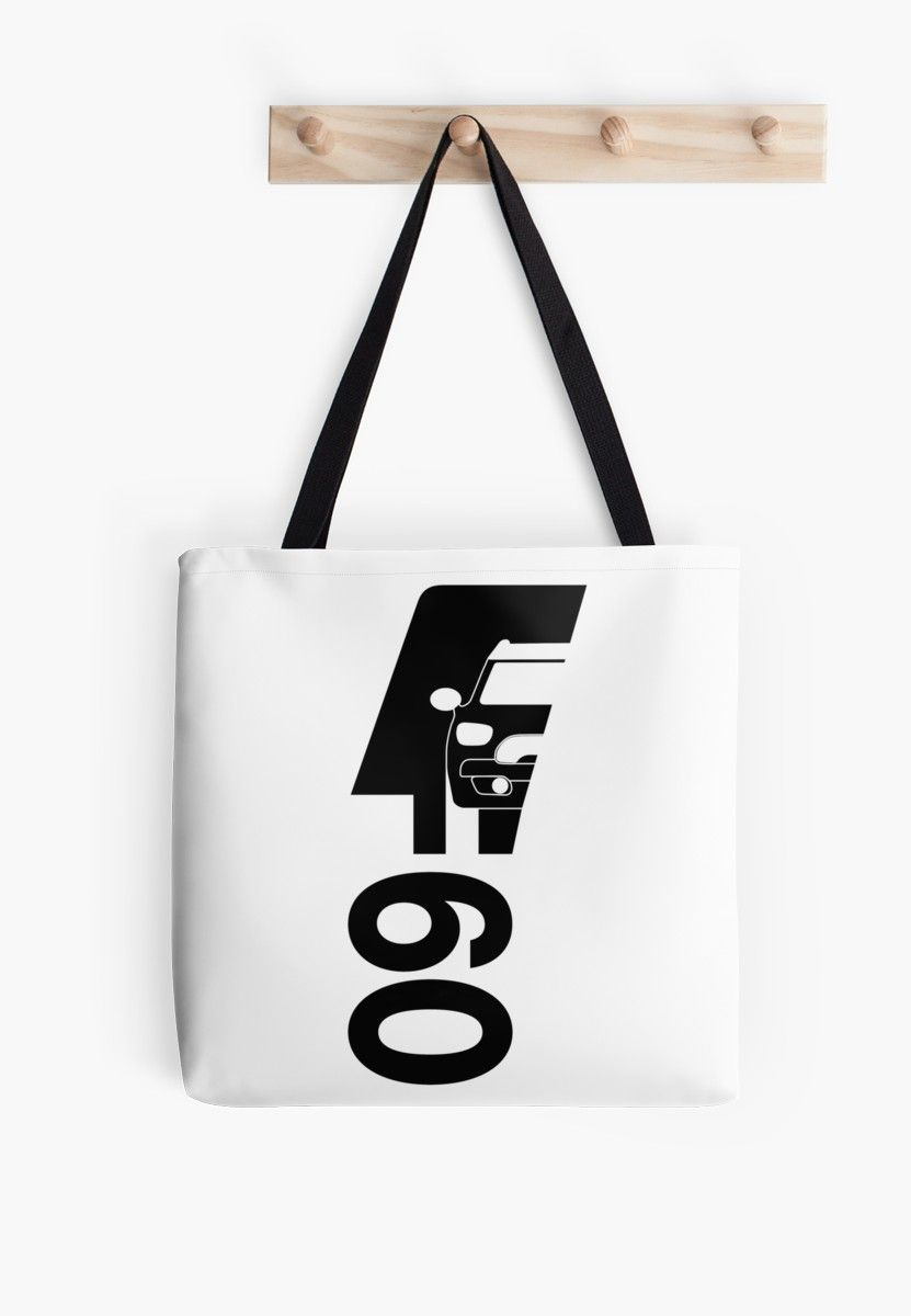 F60 Mini Cooper Countryman Bold And Simple Logo Design In Black With Drawing Of Car And F60 Text Tote Bag By The Goods Simple Logo Design Mini Cooper Countryman Tote Bag