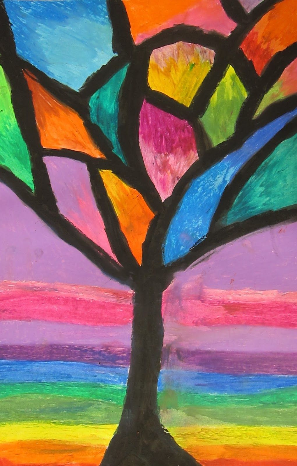 Art Is Basic Art Teacher Blog Abstract Oil Pastel Trees