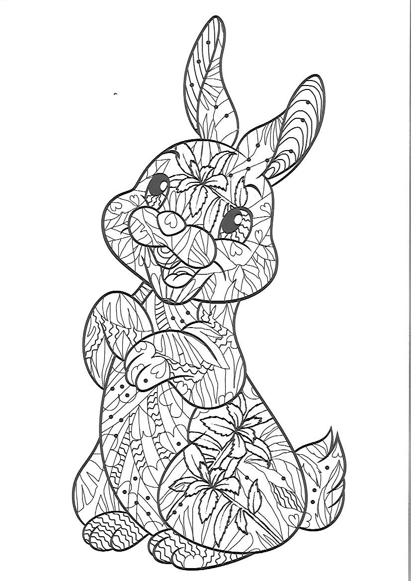 Pin von Janina Kurz auf COLORING: EASTER/Rabbits/Bunnies/Spring