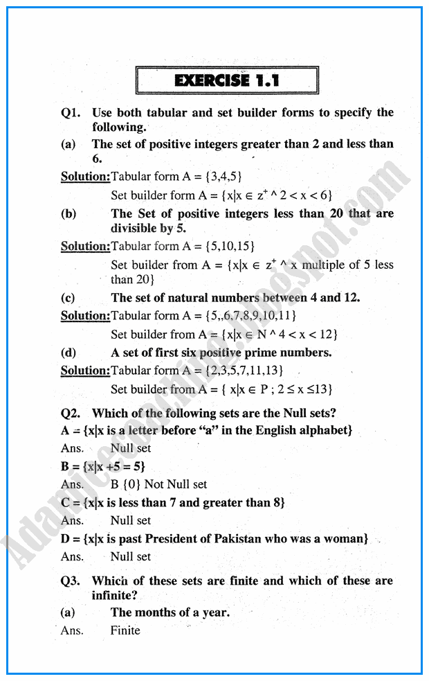 Exercise 1 1 Sets Mathematics Notes For Class 10th Studying Math Mathematics Maths Paper