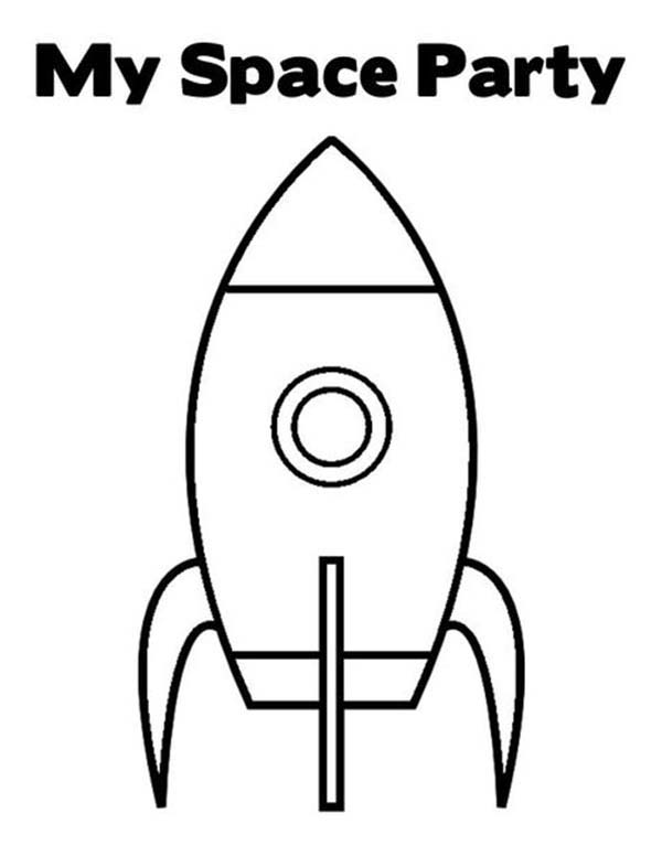Rocket Ship Coloring Page Download Collection