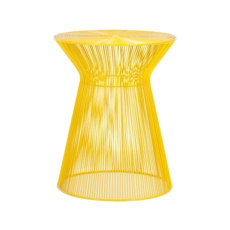 Cool yellow side table for indoors or out from freedom for the all tables yellow side greentooth Gallery