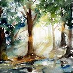Forest II  / Watercolour 23x15,5cm on Arches GT © janinaB. 2016