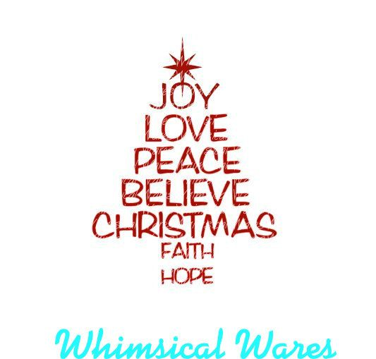 christmas tree words digital download by WhimsicalWaresDesign - christmas tree words