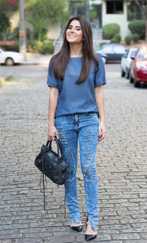 6b5da93b3be look - all jeans - Mixed - Balenciaga - denim - gabriela joá - blogger