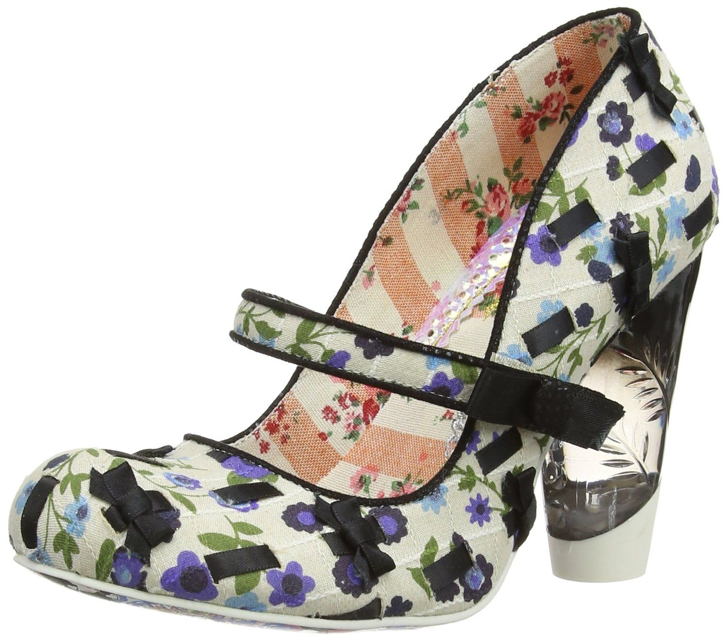 Ladies First, Escarpins Femme - Multicolore - Multicolour (Bronze), 38 EU (5 UK)Irregular Choice