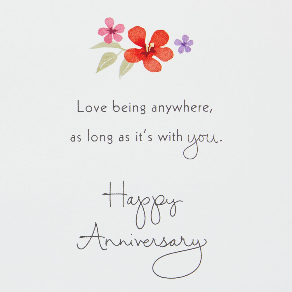 Love Anywhere With You 3d Pop Up Anniversary Card In 2021 Wedding Anniversary Wishes Anniversary Wishes For Couple Happy Birthday Wishes Quotes
