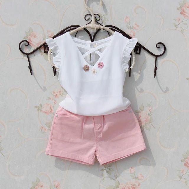 e7e26c1bf Tienda Online Niños blusa verano 2018 adolescentes muchachas grandes camisas  Chiffon blanco blusas niñas diseño flor Tops bebé de moda Niña ropa ...