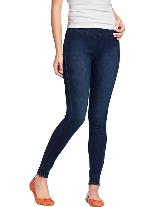 I want these to wear with long shirts!Old Navy | Women's Pull-On Zip-Ankle Jeggings