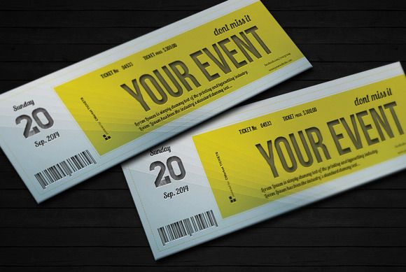 Check out Elegant event ticket 01 by Quality prints graphics on – Design Tickets Template