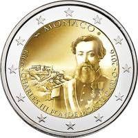 Erikoiseurot Monaco 2 Piece De Monnaie Billet De Banque