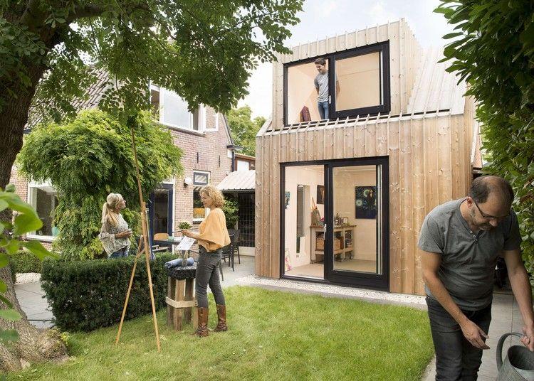 Estudio de pintura en el patio trasero / Open Kaart Estudio de