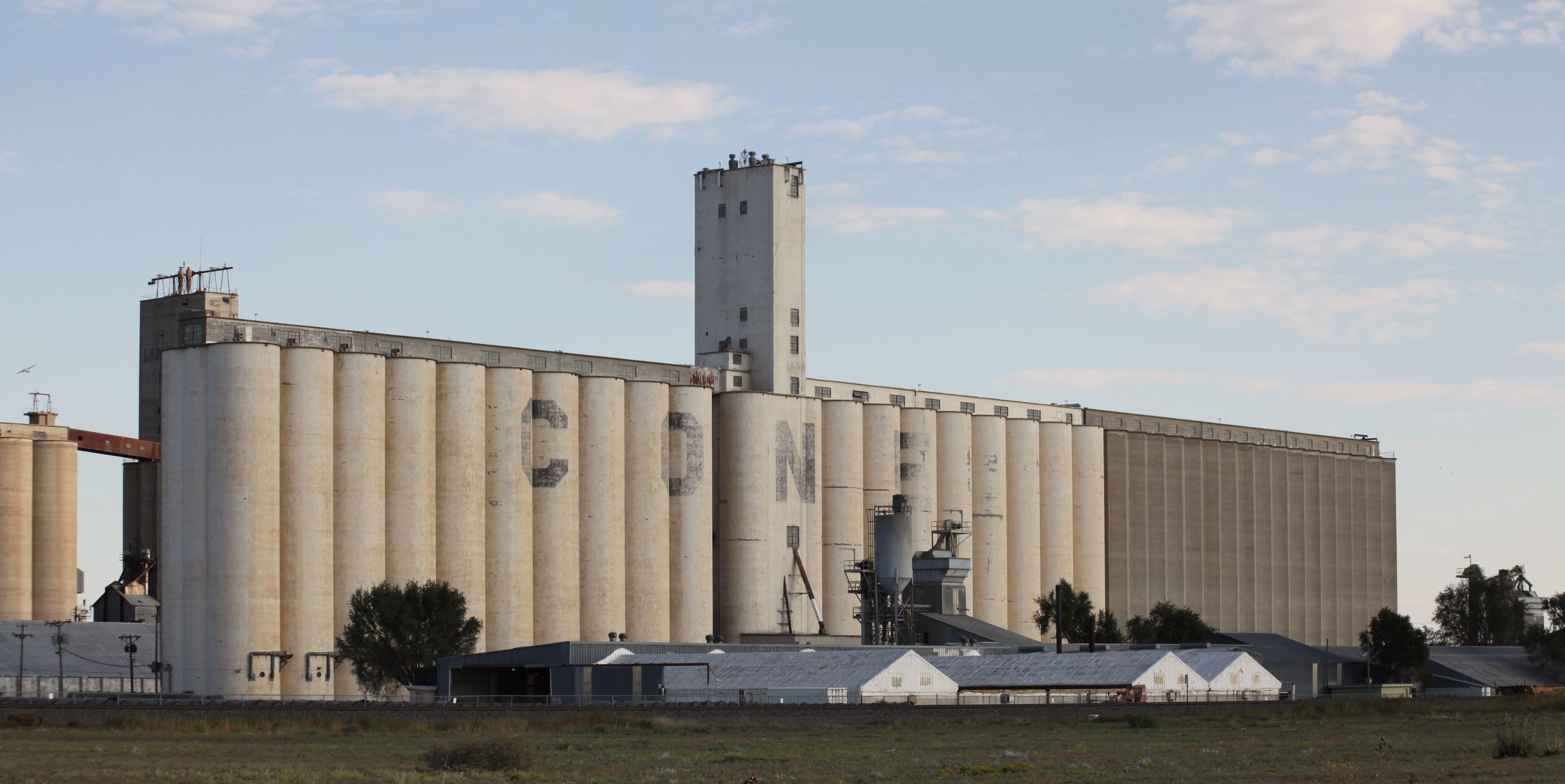 Cone Grain Elevators Just Outside Lubbock Texas Texas