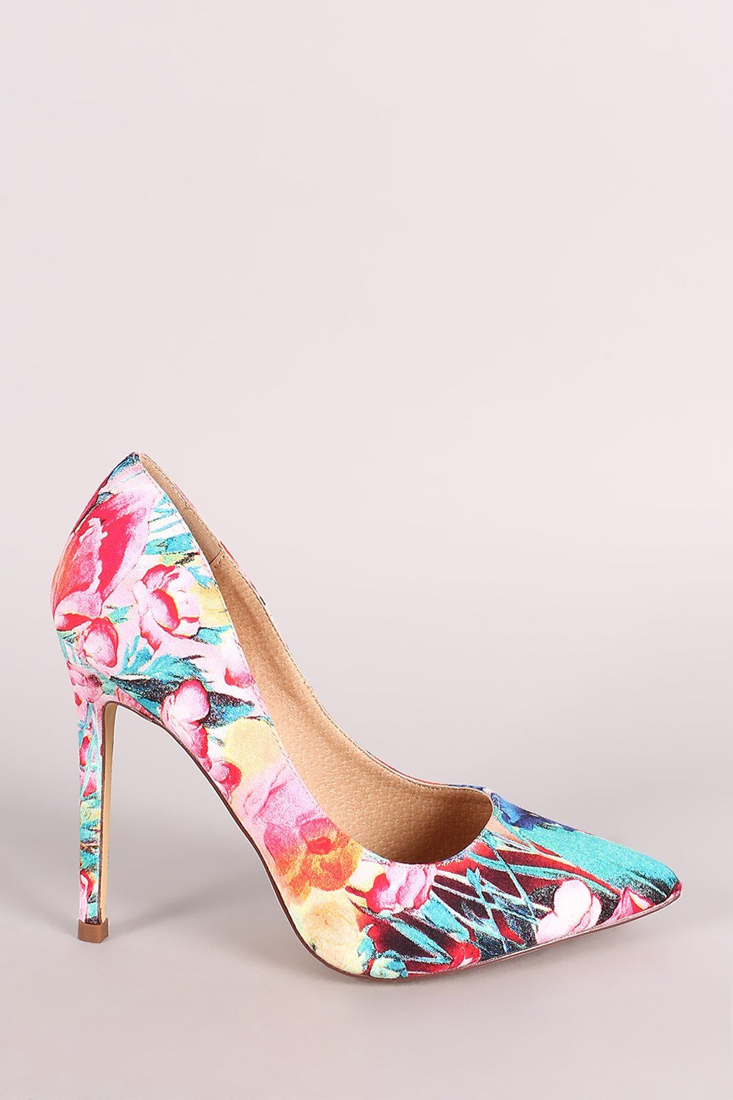 a491e2e086d Liliana Floral Print Pointy Toe Stiletto Pump