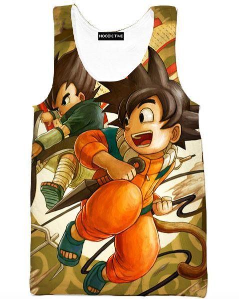 Dragon Ball Z And Naruto Sweaters Goku And Vegeta Cross Naruto And Sasuke Sweatshirt Dbz Full Printed Clothing Goku And Vegeta Goku Dragon Ball Z