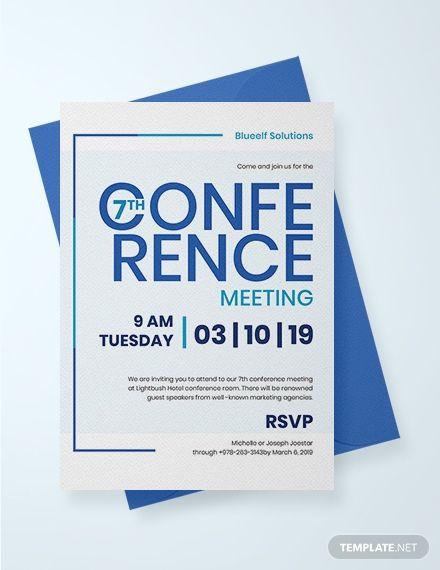 Conference Invitation Creative invitation design