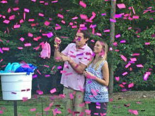 Fishing themed gender reveal turned out to be such a for Fishing gender reveal