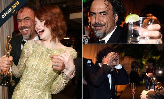 Así celebró Alejandro González Iñárritu tras el Oscar