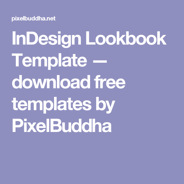 lookbook indesign print template free download free graphic