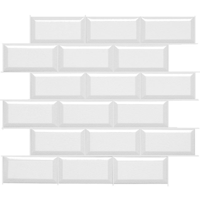 daltile rittenhouse square in arctic white 3x6 bevel - Daltile Subway Tile