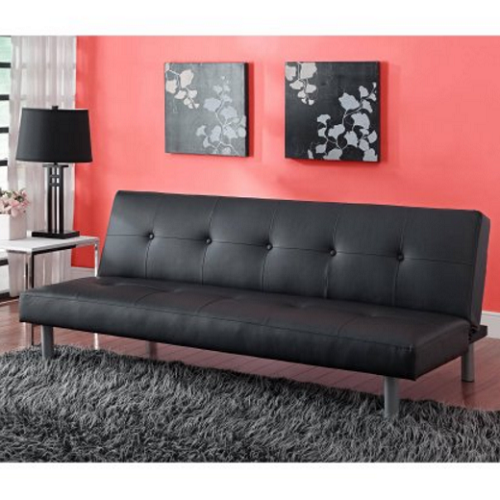 futon sofa bed black leather convertible sleeper couch lounger rh pinterest com
