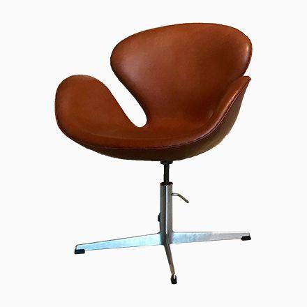 Vintage Leder Swan Stuhl von Arne Jacobsen für Fritz Hansen Jetzt - stühle für die küche