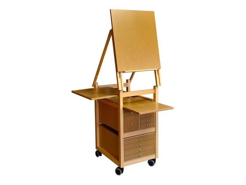 Chevalet peinture en bois Meuble a tiroirs pour peindre et - peinture pour relooker meuble en bois
